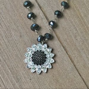 Fossil Sunflower Necklace